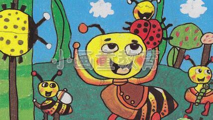 画出了心目中的昆虫,下面看看小朋友们的绘画步骤吧!