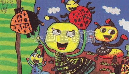 儿童油画棒绘画:昆虫总动员