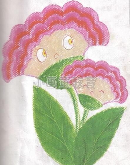 油画棒色彩画《鸡冠花》的画法