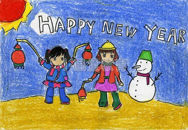 """迎新年""""童梦飞扬""""绘画作品展开展图片"""